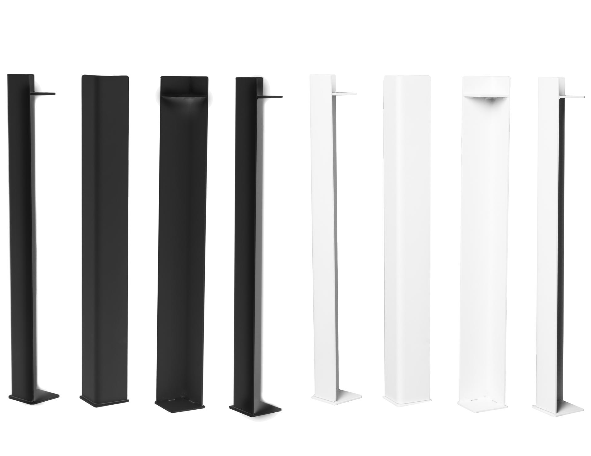 tischbeine schwarz weiss metall nook altholztische. Black Bedroom Furniture Sets. Home Design Ideas