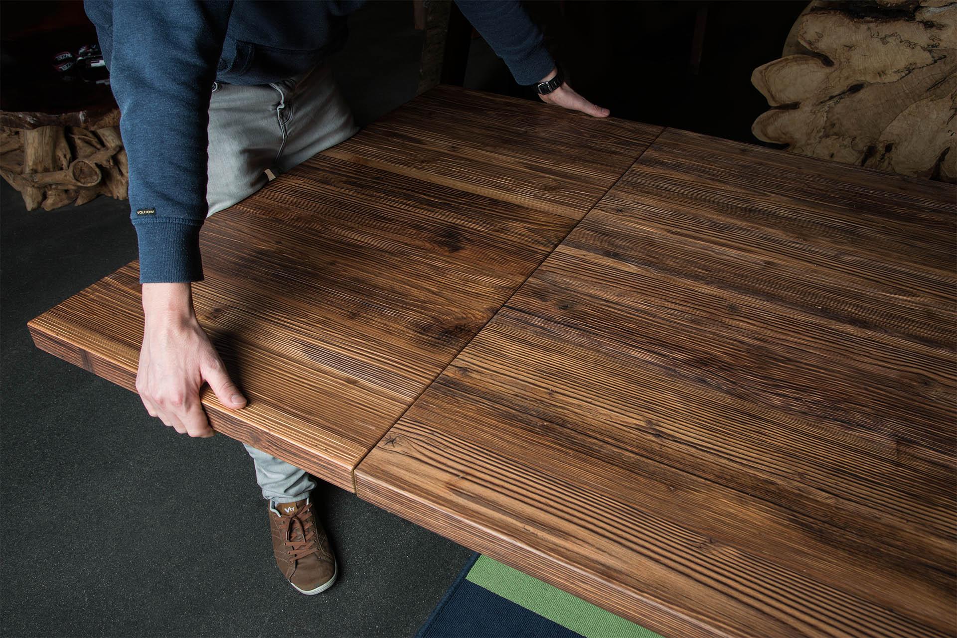 tischverl ngerung und ansteckplatten f r holztische und betontische. Black Bedroom Furniture Sets. Home Design Ideas