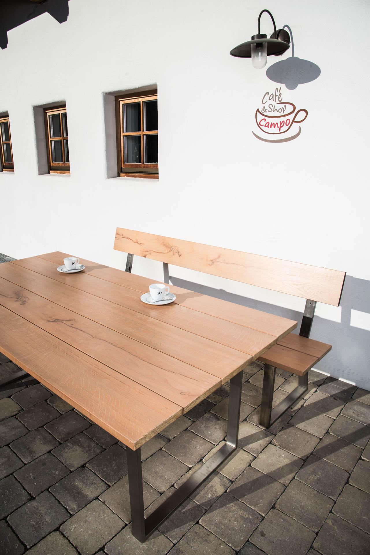 Gartentisch holz gnstig affordable erstaunlich loungembel for Hoher couchtisch